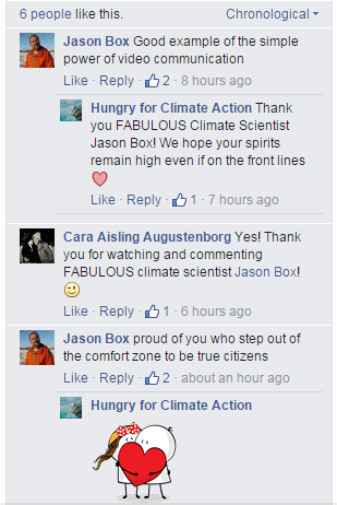 Jason Box comment - Hungry for Climate Action