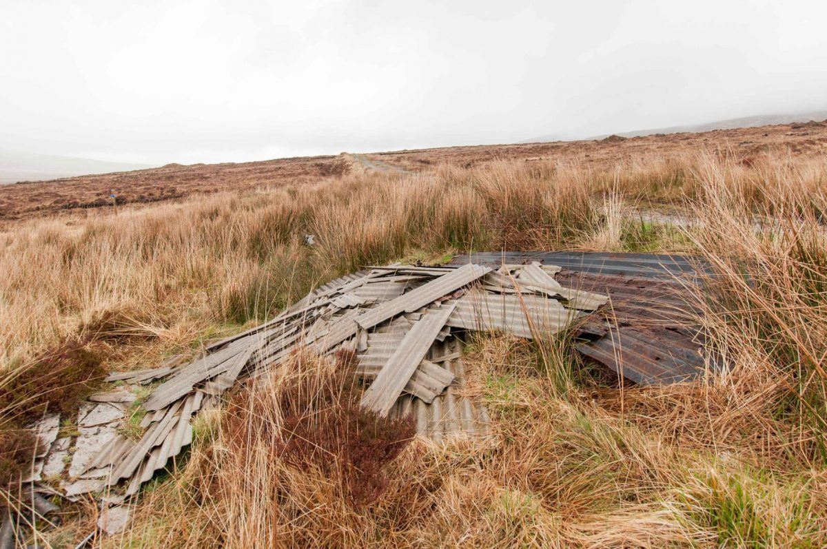 illegal dumping, Donegal national park