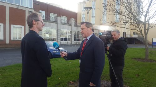 Oisin Coghlan being interviewed on RTE at Citizens' Assembly Photo: SCC