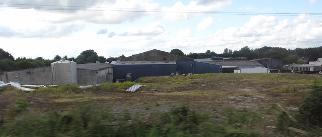 Rear of the factory premises of Rosderra Irish Meats, Clara, Offaly Photo: Ian Paterson