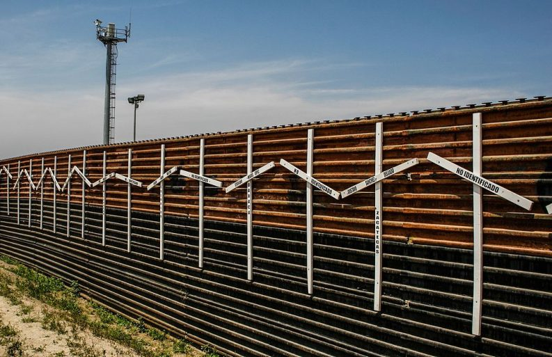 Mexico–United States barrier at the border of Tijuana, Mexico and San Diego, USA Photo: Tomas Castelazo