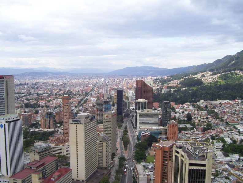 Aerial photo of Bogata, Colombia Photo: Julianza/Pixabay