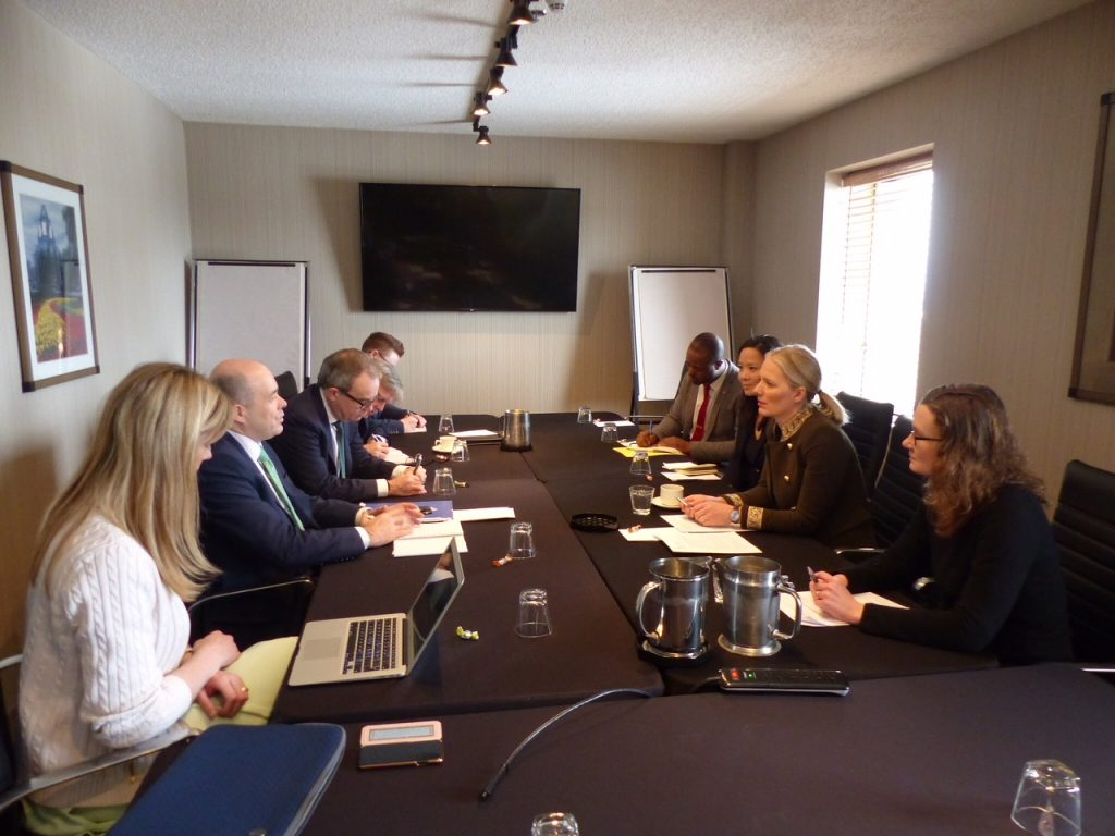 Ministers Denis Naughten and Canadian Environment Minister Catherine McKenna meeting in Toronto Photo: DCCAE