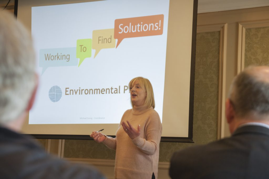Liadh Ní Riada speaking at an environmental event in 2017 Photo: Niall Sargent