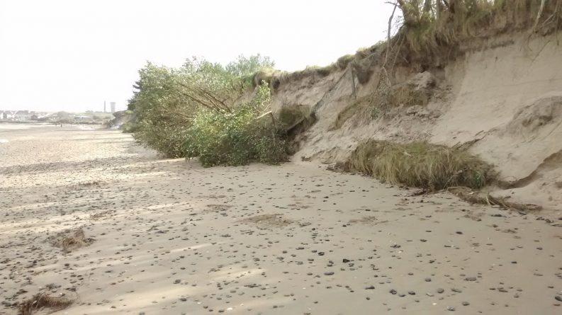 Portrane coastal erosion, April 2018 Photo: George Furley / Portrane Coastal Erosion