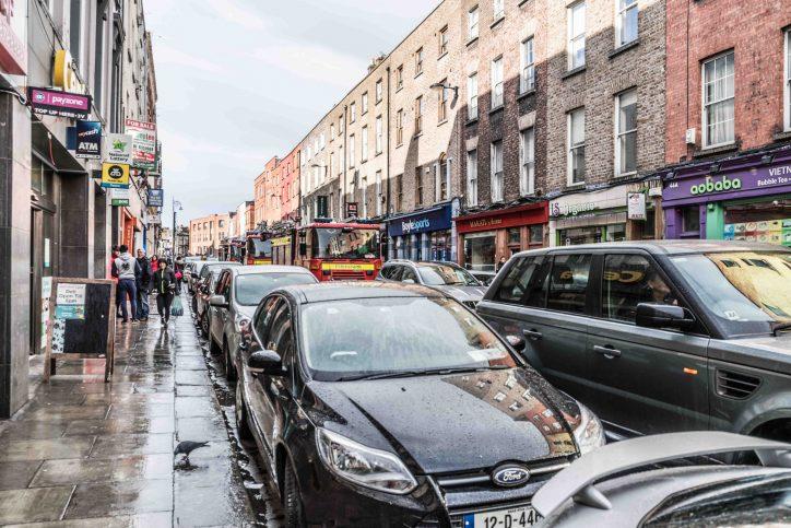 Dublin Fire Brigade stuck in traffic on Capel St, Co Dublin Photo: Peter Murphy