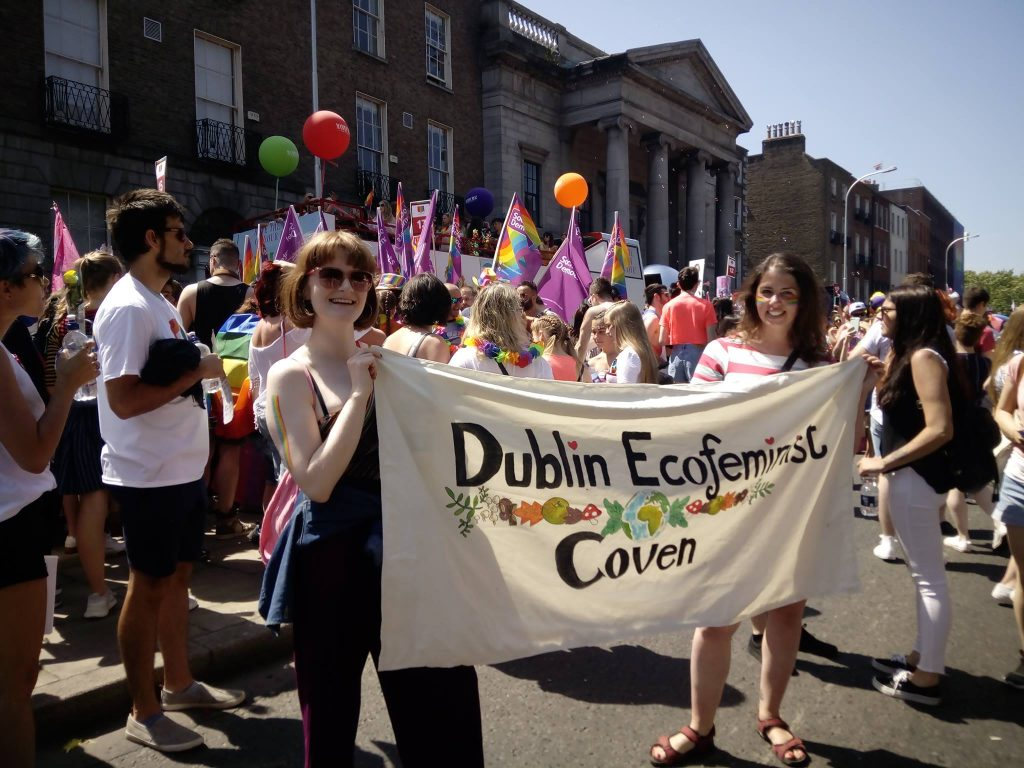 Irish eco-feminism grouping at Gay Pride 2018 Photo: Dublin Eco-Feminist Coven