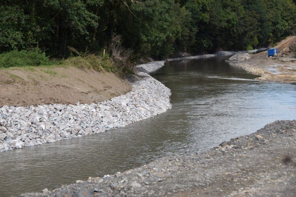 Rock armouring which is currently being installed along banks of Bandon Photo: Ecofact