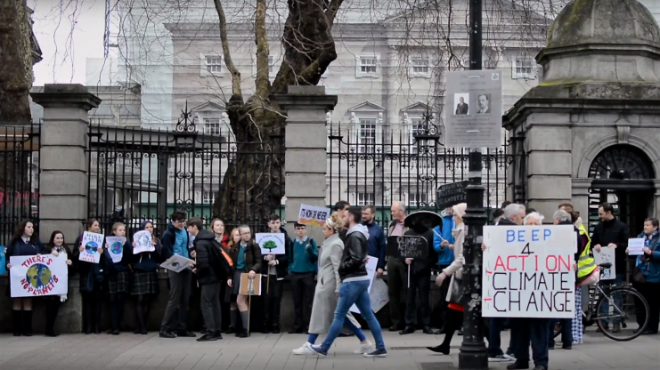 School climate strike in Co Dublin Photo: Kayle Crosson