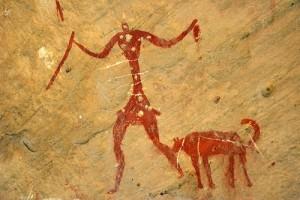 caveman-and-dog1 painting