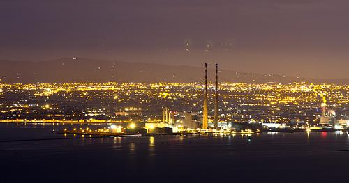view of Dublin at night