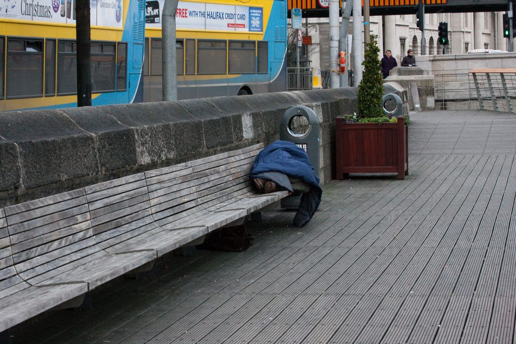Homeless Individual in Dublin Photo: William Murphy