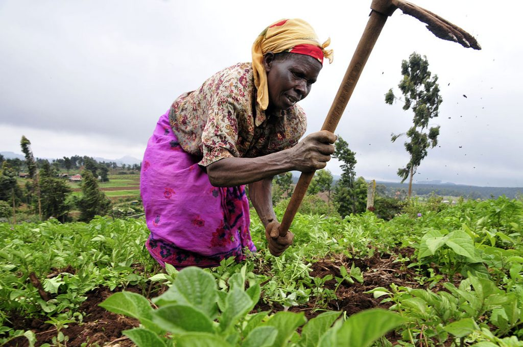 female farmer climate change frontline