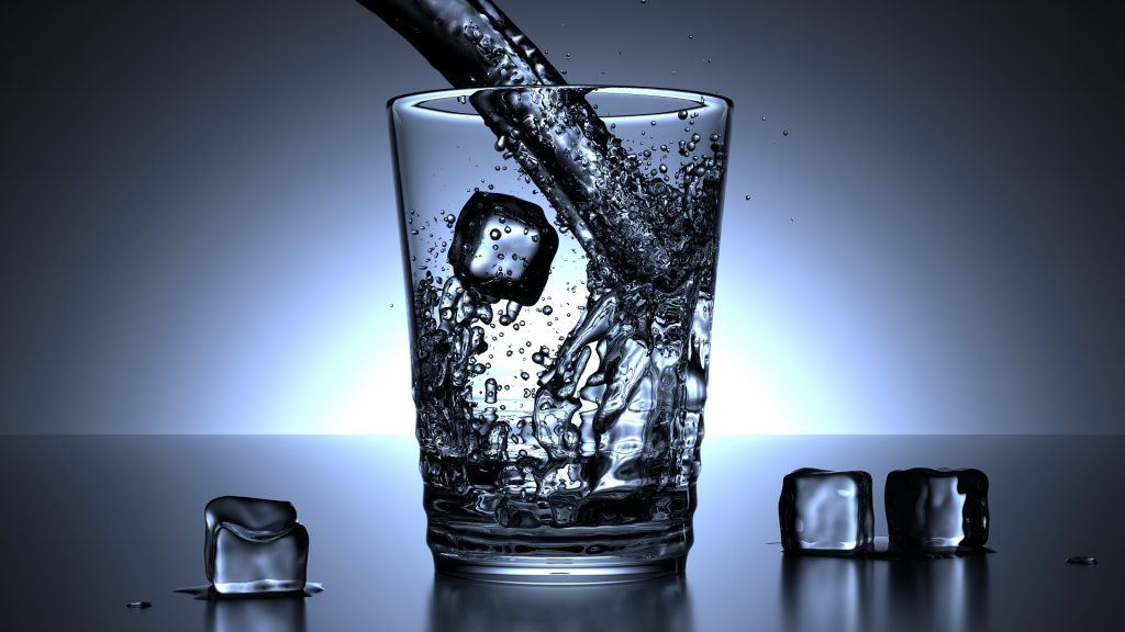 glass drinking water