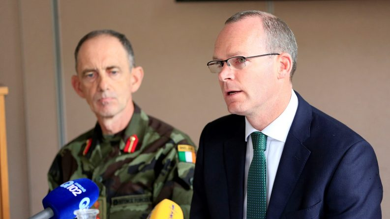 The Tánaiste Simon Coveney, TD Photo: Irish Defence Forces