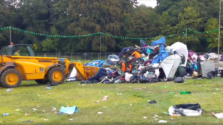Electric Picnic clean-up Photo: Ed Rice