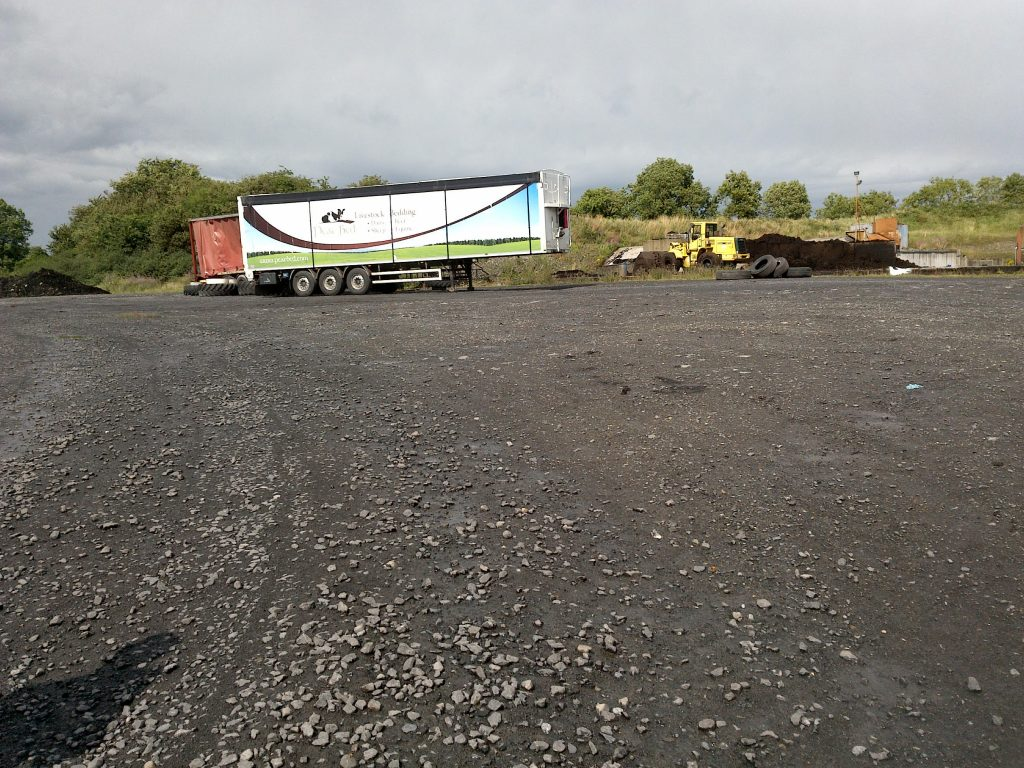 Peat bed trailer at the Derrycrave sit on 28 July 2018 Photo: Friends of the Irish Environment