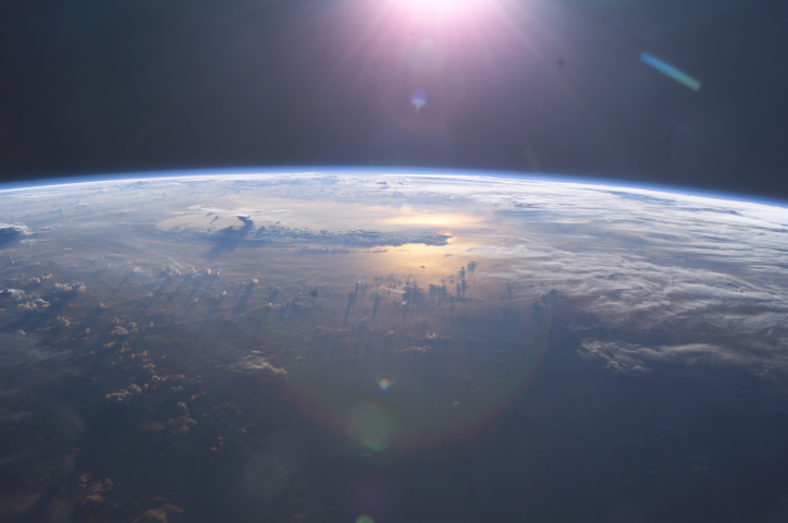 Sunset Over Earth Photo: Nasa