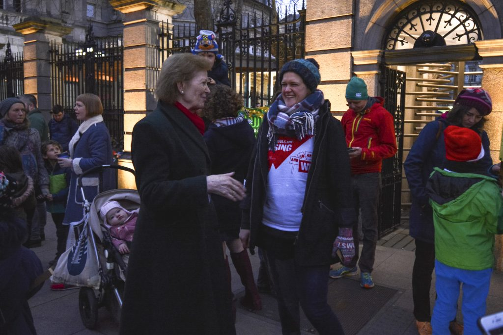 Mary Robinson at Children's Rally for Climate Action Photo: Kayle Crosson