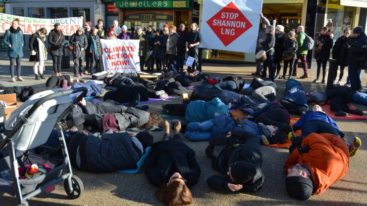 Die-in protest against Shannon LNG Photo: Kayle Crosson