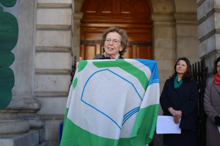 Mary Robinson at launch of TCD Green Week 2019 Photo: Kayle Crosson