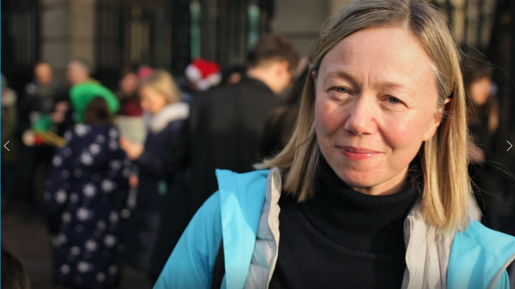 Lorna Gold at Fridays4Future strike Photo: Niall Sargent
