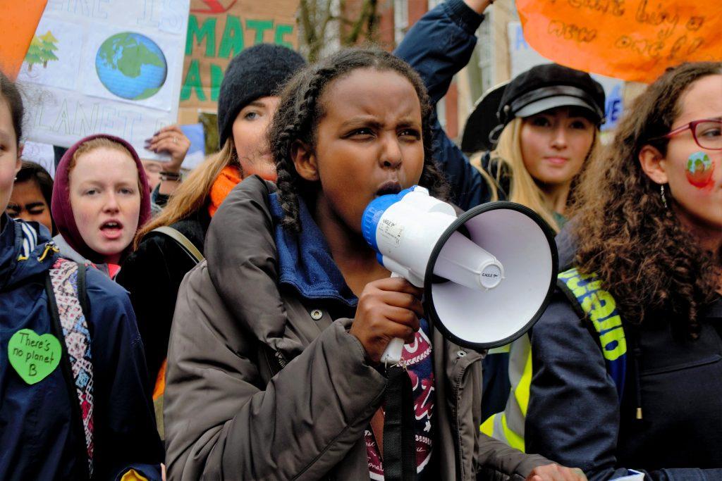 Climate strike in Cork city Photo: Shamim Malekmian