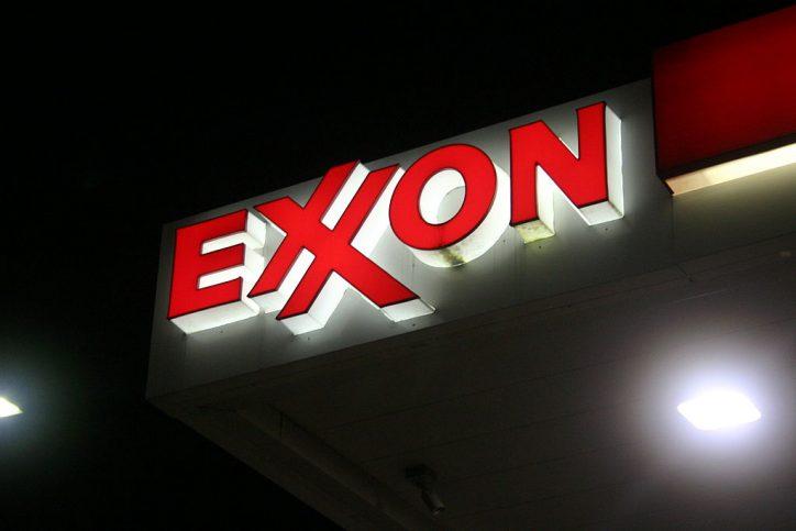 Photo of Exxon sign in Framingham, MA. Photo by Brian Katt.