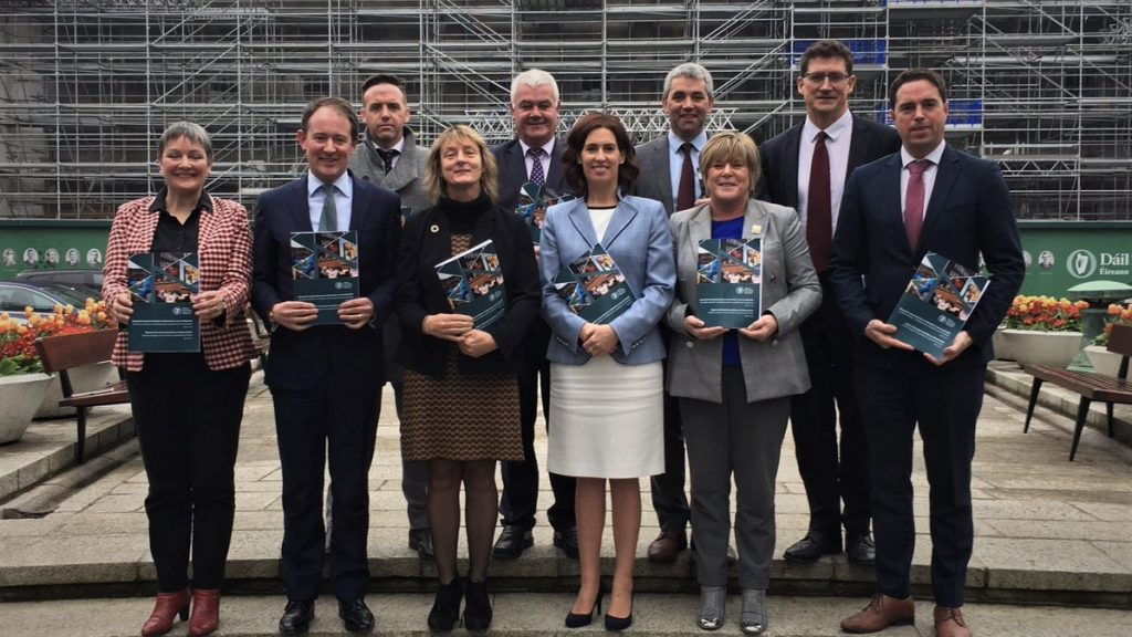 JOCCA Committee members at report release Photo: Oireachtas