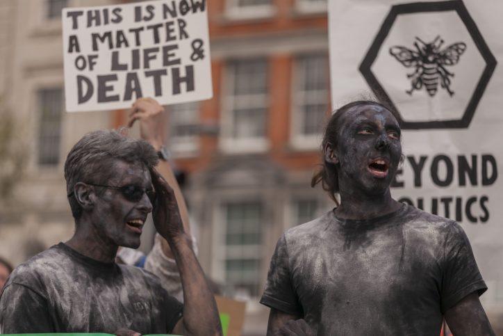 Extinction Rebellion activists in Dublin Photo: Niall Sargent