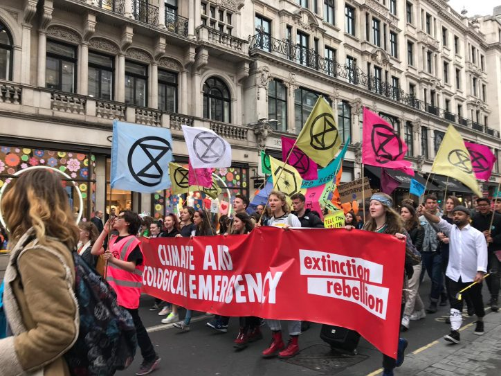 Protesters In London Photo: Extinction Rebellion