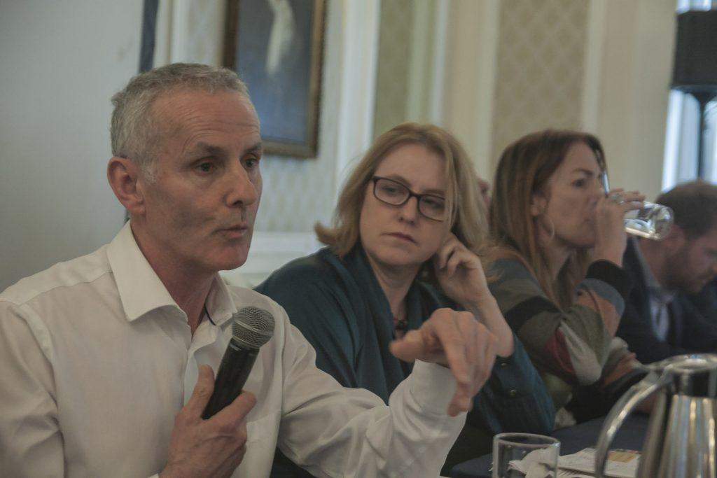 Ciaran Ciuffe, Green Party, at MEP Elections Debate Photo: Niall Sargent
