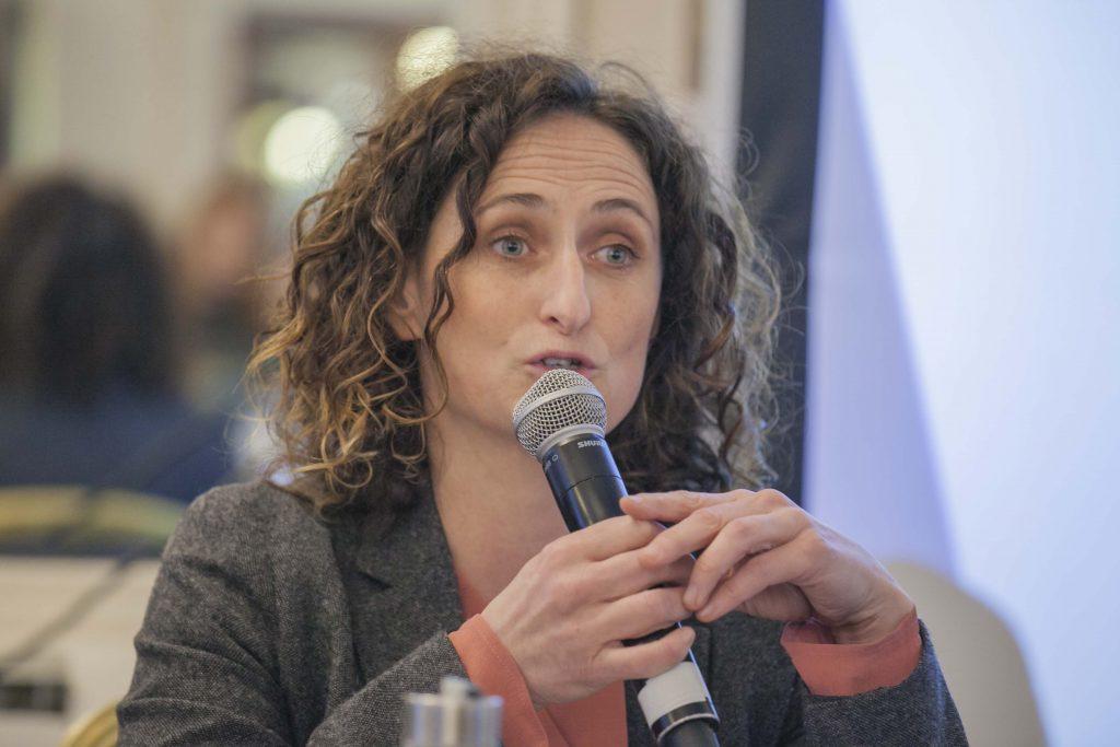 MEP Lynn Boylan, Sinn Fein at Environmental Pillar hustings, May 2019 Photo: NIall Sargent