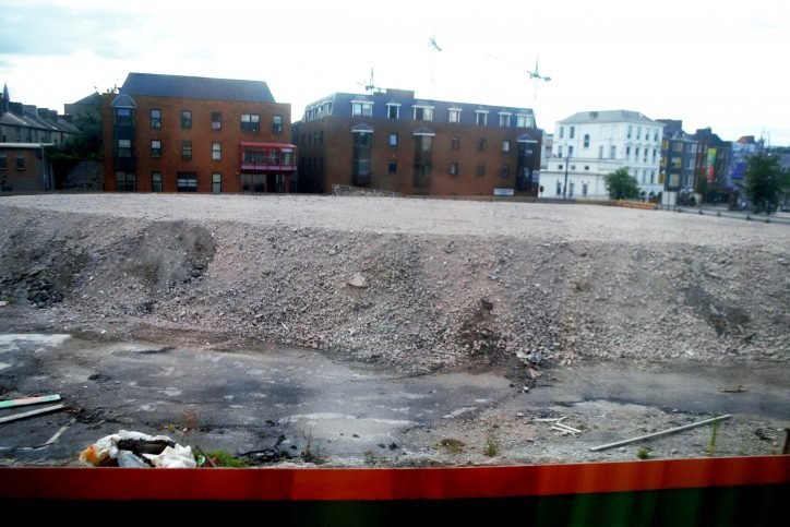 Rubble mound in Cork City Centre Photo: Shamim Malekmian