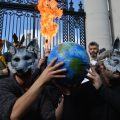 A firebreather performs after the budget is read aloud Photo: Kayle Crosson