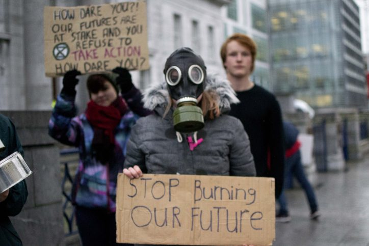 Cl;imate strike in Cork in solidarity with COP25 activists Photo: Shamim Malekmian