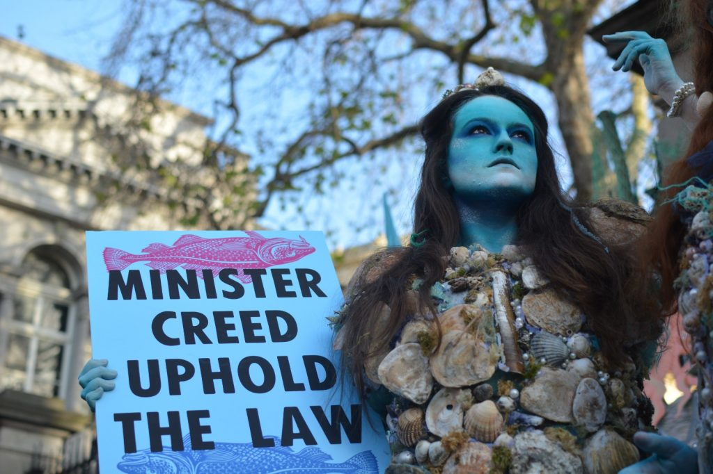 Extinction Rebellion protest on overfishign December 2019 Photo: Kayle Crosson