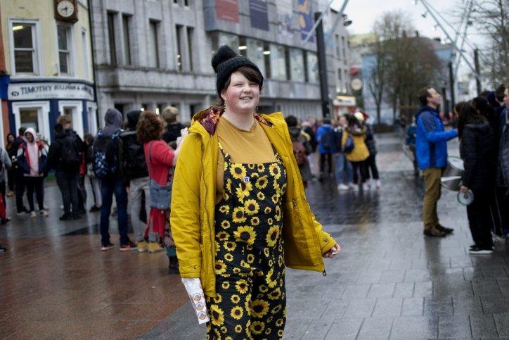 Saoi O'Connor at Cork climate strike Photo: Shamim Malekmian