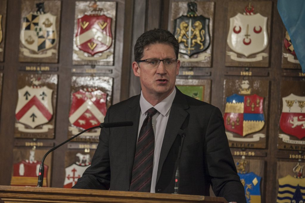 Eamon Ryan at GE2020 climate hustings Photo: Niall Sargent