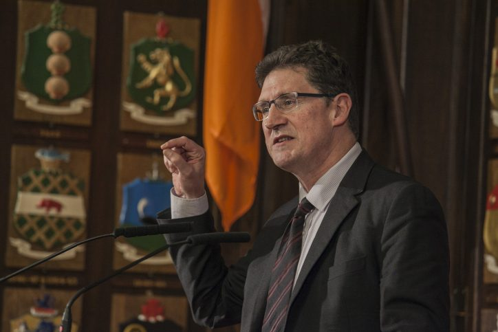 Eamon Ryan of Green Party at climate hustings Photo: Niall Sargent