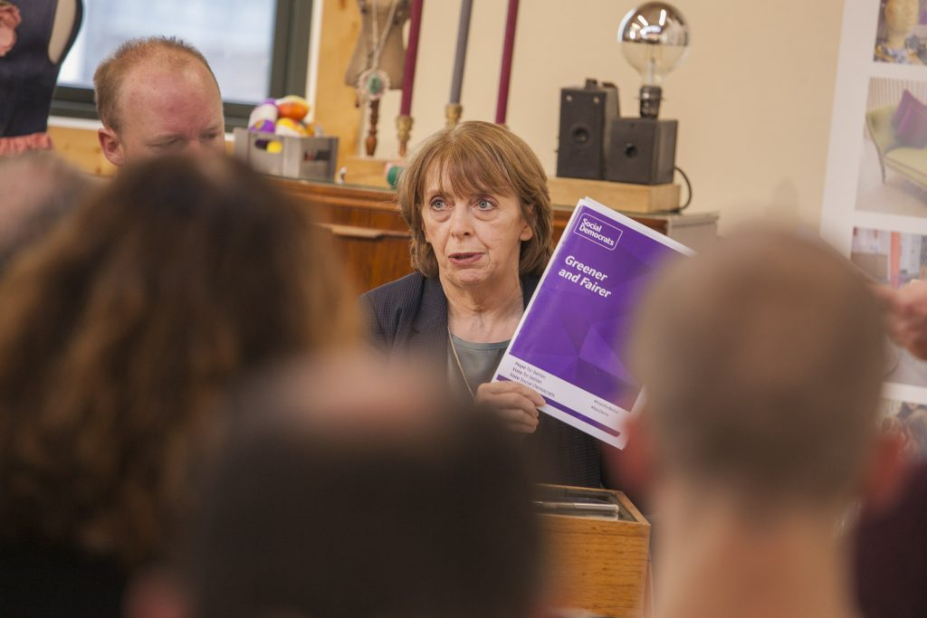 Róisín Shortall of the SocDems at climate forum in Rediscovery Centre Photo: Niall Sargent